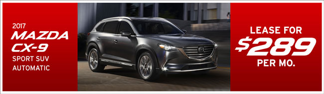 lease a new mazda cx-9 for only $289 per month form passport mazda